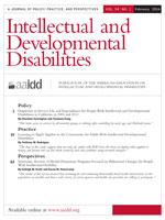 Cover image of the journal Intellectual and Developmental Disabilities.