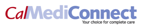 "Logo of Cal MediConnect, with the tagline ""Your choice for complete care."""