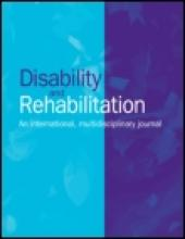 The cover of the journal Disability and Rehabilitation