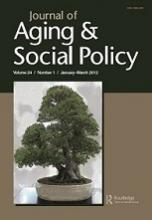 Cover image of the journal Aging and Social Policy.